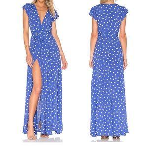 Tularosa Revolve Sid Wrap Polka Dot Maxi Dress